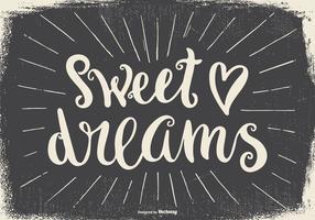 Typografisk illustration av söta drömmar