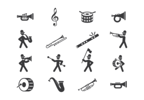 Marching Band Icons Vektor
