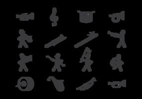 Marching Band Icons Vektor