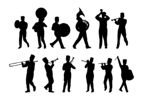 Marcherande band silhuetter vektor