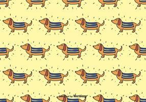 Doodle dachshund vektor mönster