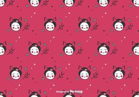 Gekritzel Geisha Vektor Hintergrund