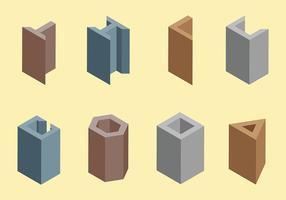 Balken Vektor Symbole