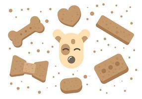 Hund Biskuit Vektor Icons
