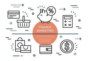 Kostenlose Linear Finance Marketing Elemente vektor