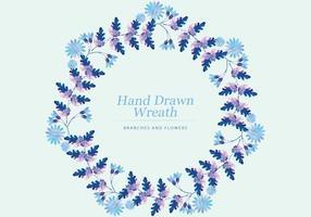 Vektor Färgrik Hand Drawn Branch