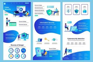 Cyber Security Flat Landing Page vektor