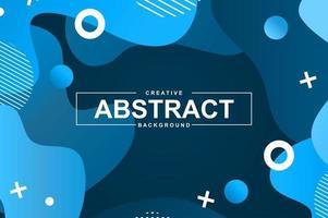 abstraktes Design mit blauen flüssigen Gradientenformen vektor