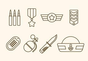 Flache Marine Corps Vektoren