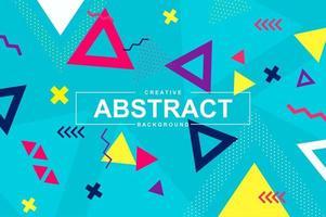 trendig mönsterdesign med geometriska former i memphis-stil vektor