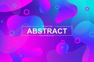 trendiges Neon-Design mit dynamischen flüssigen Formen vektor