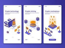 Isometrisches Design-Kit für Kryptotechnologie