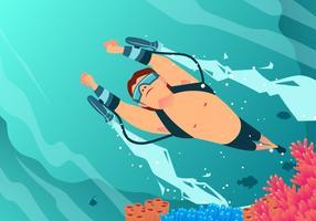 Schwimmen mit Wasser Jet Vektor