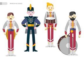 Marching Band Squad Vektor flache Illustration