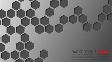 abstrakte graue Sechsecke versanken im Hintergrunddesign vektor