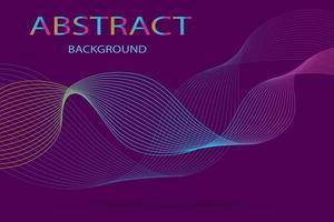 abstrakter lila Hintergrund mit hellen Wellenlinien. vektor