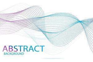 zarte blaue Abstraktion von Wellenlinien und Strichen vektor