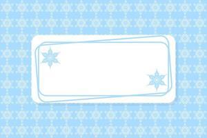 blauer und weißer Schneeflockenrahmen und -muster vektor