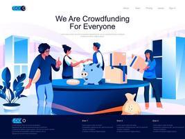 vi crowdfunding för alla målsidor