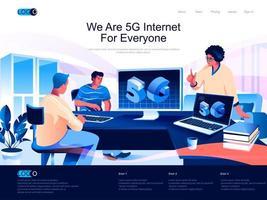 Wir sind 5g Internet für alle Zielseiten vektor