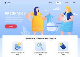 Schwangerschaft flache Landingpage