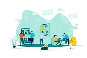 Coworking-Konzept im flachen Stil