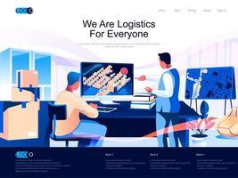 Wir sind Logistik für alle Zielseiten vektor