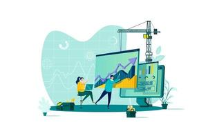 dataanalys koncept i platt stil