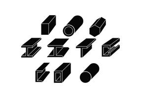 Freie Stahl Silhouette Icon Vektor