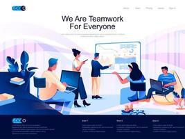 Wir sind Teamwork für alle Zielseiten