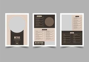 brun tonad restaurang meny flygblad mall vektor