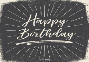 Vintage Typografische Happy Birthday Illustration