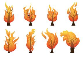 Brennende Bush-Vektor-Icons