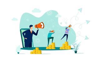 remiss marknadsföringskoncept i platt stil