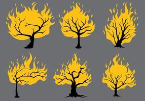 Brinnande bush vektor ikoner