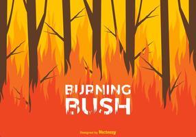 Brinnande buske vektor bakgrund