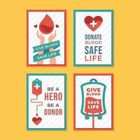 affisch för medvetenhet om blodgivning vektor