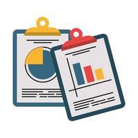 Unternehmensgewinnstatistik in Zwischenablagen vektor
