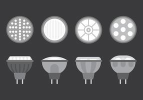LED-lampor Vector ikoner