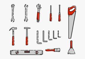 Hardware Werkzeug Set Vektor