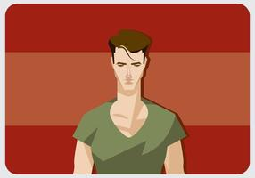 Cool Man Med V-Neck Shirt Vector
