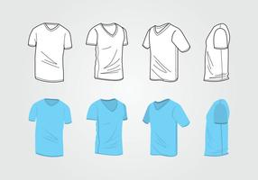 Mann V-Ausschnitt Hemd Vorlage vektor