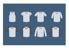 V-hals tröja vektorsamling