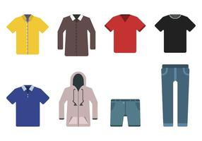 Plana kläder vektorer