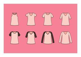 Gratis V-Neck Shirt Vector Collection
