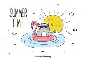 Sommartidvektor vektor