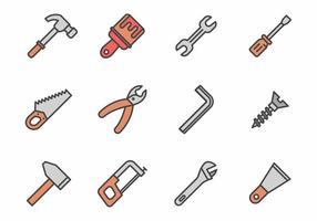 Freie Hand Werkzeuge Icons Vektor