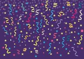 Free Colorful Serpentine und Confetti Hintergrund Vektor