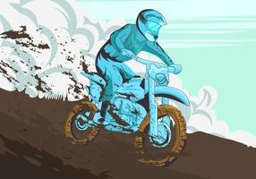 Ryttare i motorcross turnering vektor