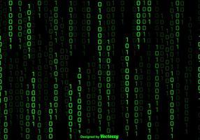 Vector Green Numbers Hintergrund In Matrix-Stil